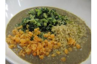 Vellutata di lenticchie con quinoa e catalogna